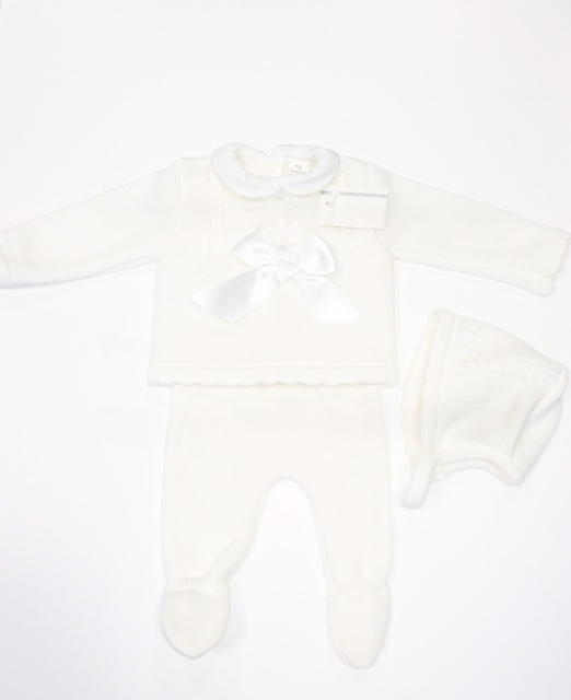 Newborn Baby White Knitted Set