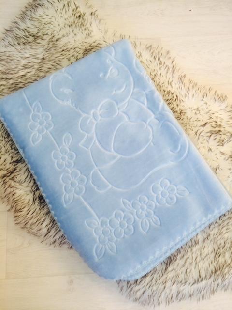 Baby Boys Blue Fleece Blanket