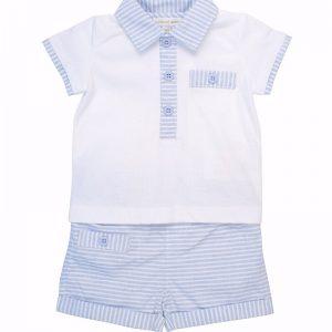 Mintini Baby Boys Blue Shorts Set