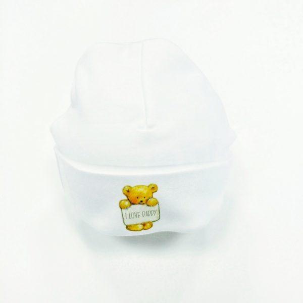 Ivory Slogan Baby Hat