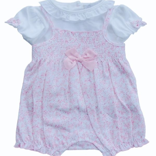 Baby Girls Pink Floral Romper