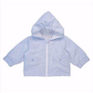 Mintini Baby Boys Blue Stripe Jacket