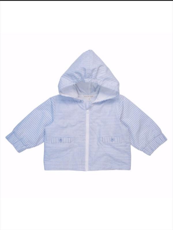 d8563f67b7129 Mintini Baby Boys Blue Stripe Jacket
