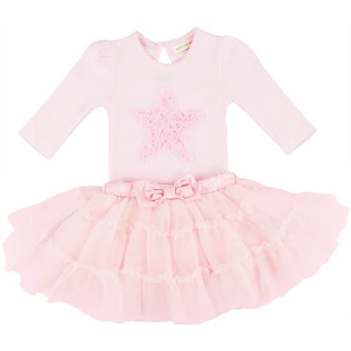 Mintini Baby Girls Pink Bodysuit & Tutu Skirt Set
