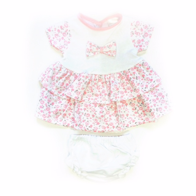 Pex Baby Girls Pink Floral Dress