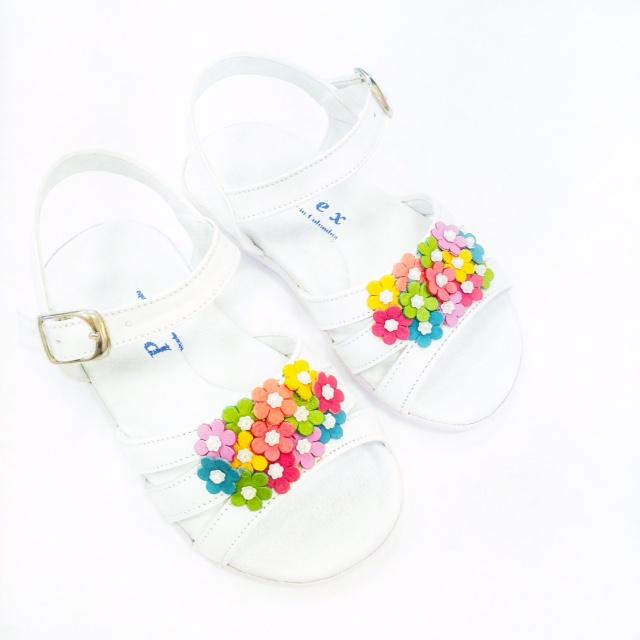 Pex Baby Girls White Sandals