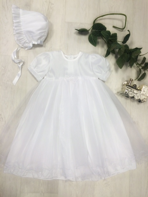 Pex Baby Girls White Christening Dress
