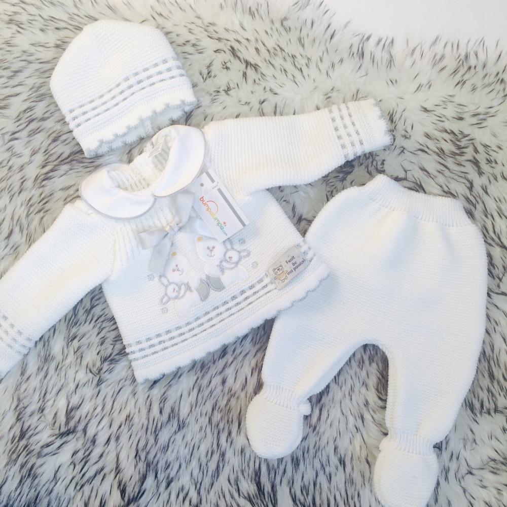 Baby White 3 Piece Gfit Set