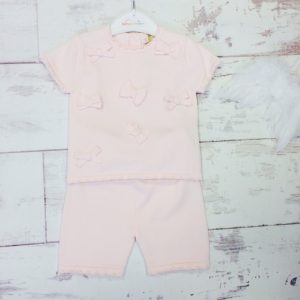 Baby Girls Pink Shorts Set