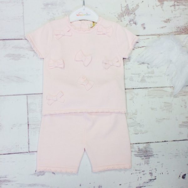 Baby Girls Pink Shorts Set