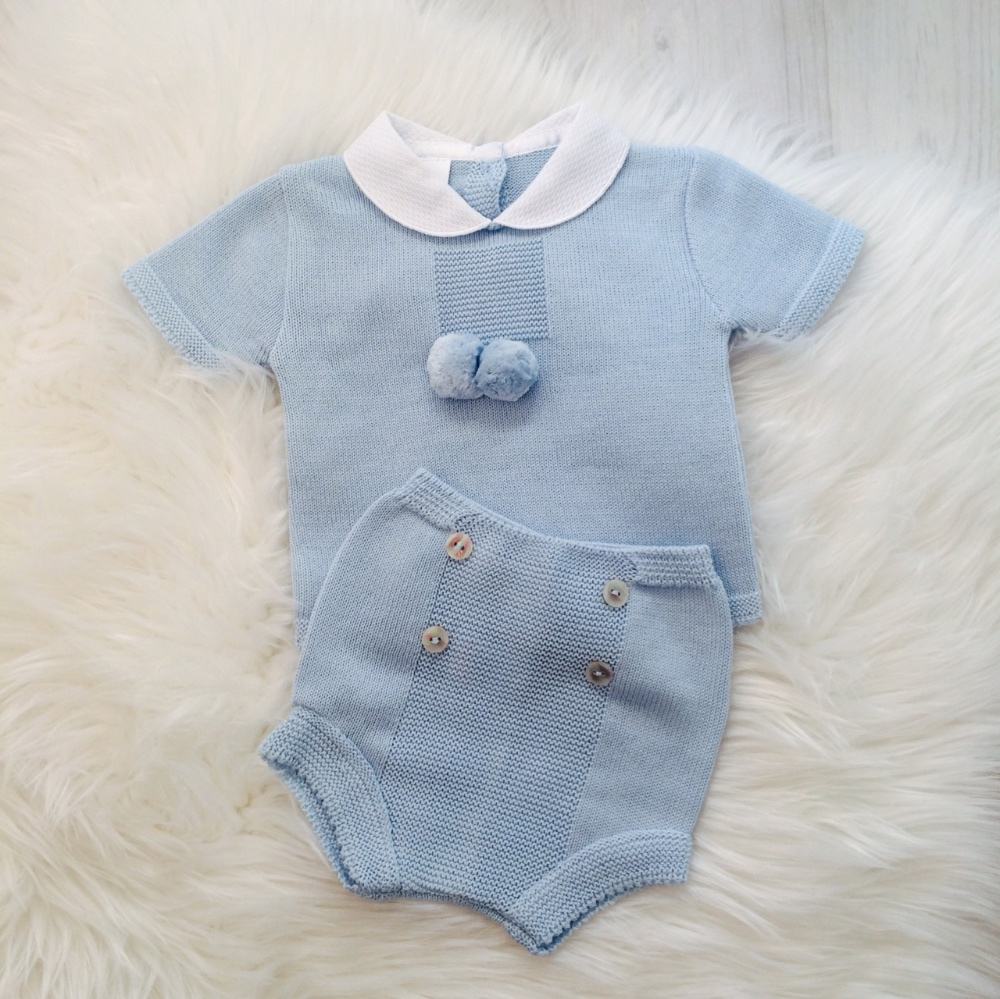 a5e4686ec1115 Baby Blue Shorts Set | Traditional Baby Clothes | Bumpalumpa.com