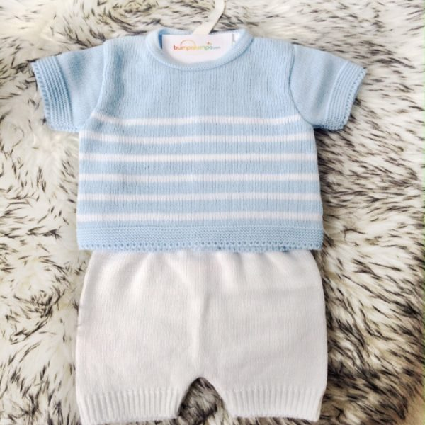 Baby Boys Blue Top & Shorts Set