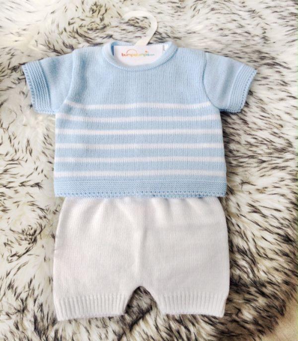 Baby Boys Blue Top & Shorts Set