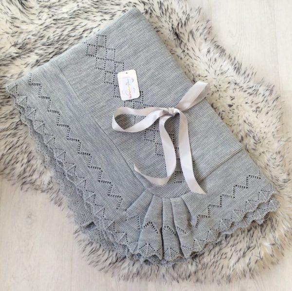 Grey Baby Shawl