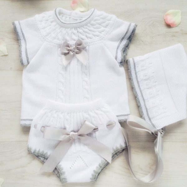 Baby White Three Piece Outfit