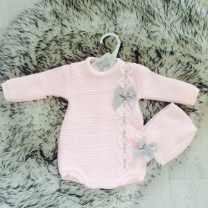 Baby Girls Pale Pink Romper Set