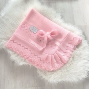 Baby Girls Pink Shawl