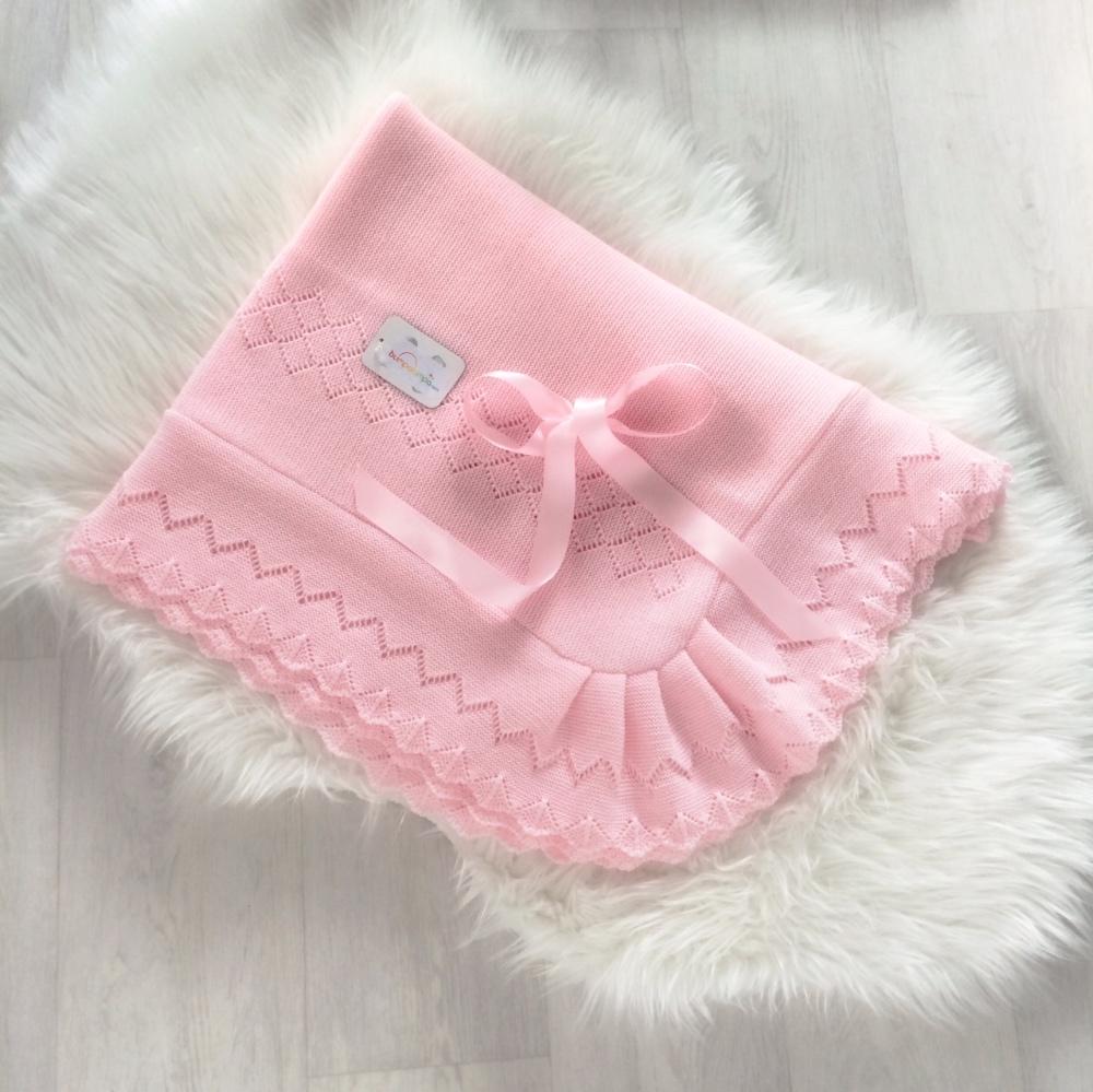 Baby Girls Pink Shawl