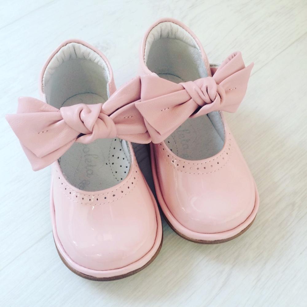 Borboleta Girls Pink Shoes