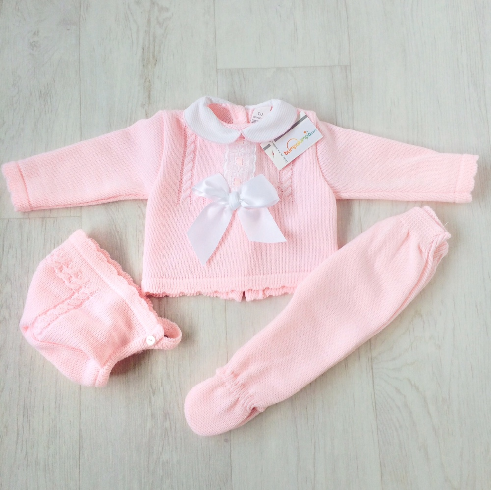 Baby Girls Pink 3 Piece Set