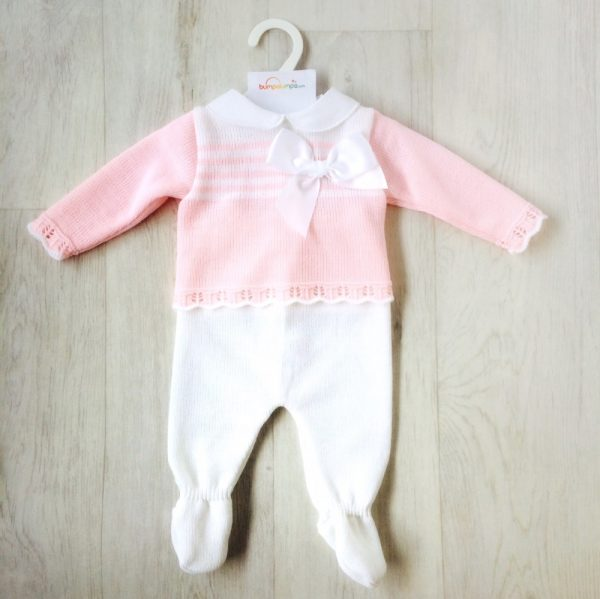 Baby Girls Pink Top & Trouser Set