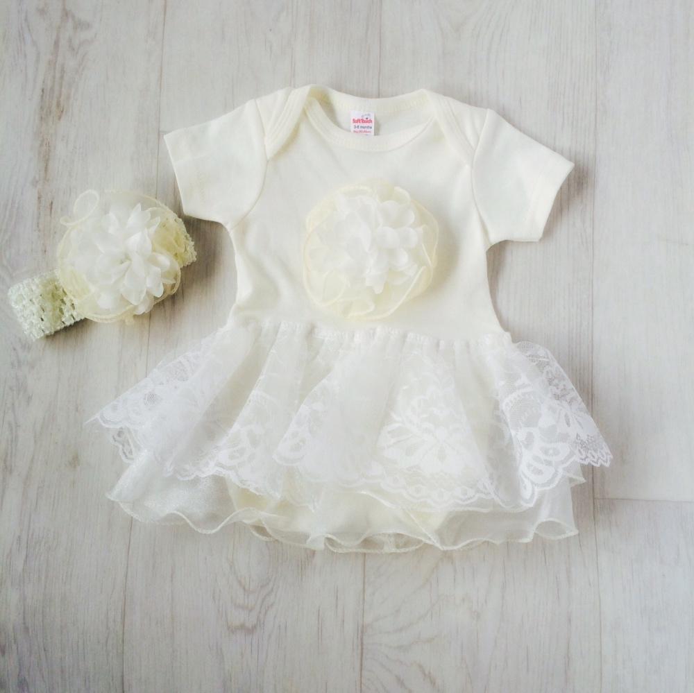 Baby Girls Ivory Bodysuit