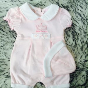 Baby Girls Pink Romper & Hat