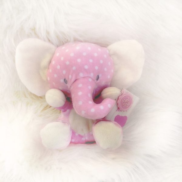 Soft Toy Pink Elephant | Baby Girls Cuddly Toy ...