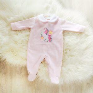 Baby Girls Unicorn Babygrow