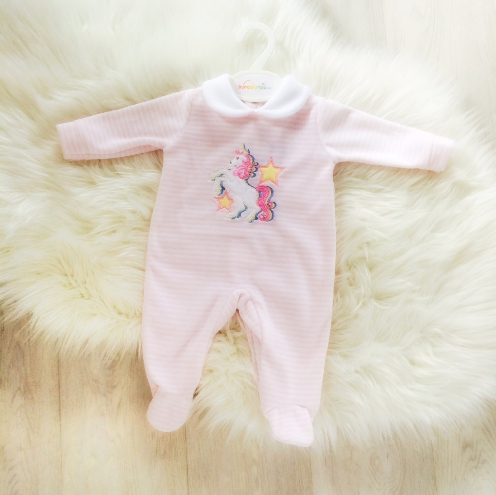 Baby Girls Unicorn Babygrow