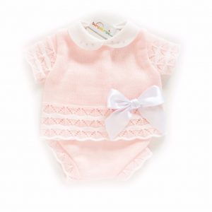 Baby Girls Pink Top & Shorts With Bow