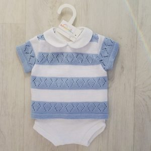Baby Boys Blue & White Set