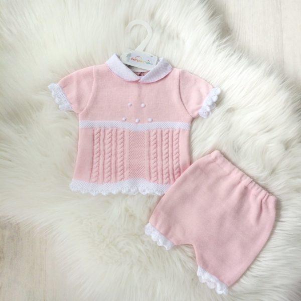 Baby Girls Pink Two Piece Short Set
