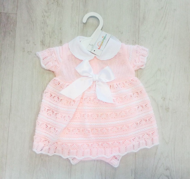 Baby Girls Pink Dress Set