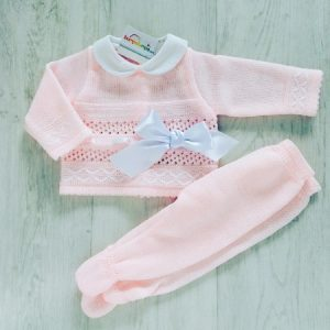 Baby Girls Pink Top & Trousers