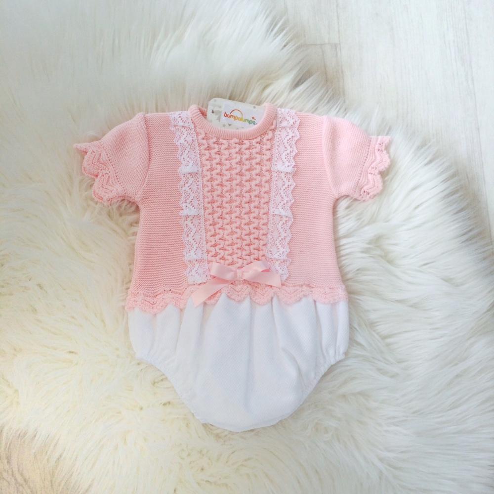 Baby Girls Pink Romper Suit
