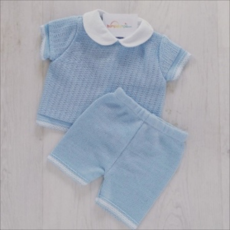 Baby Boys Pale Blue Top & Shorts