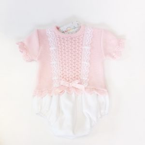 Baby Girls Pink Romper Suit
