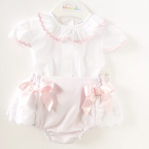 Baby Girls Pink Shorts & Top Two Piece Set