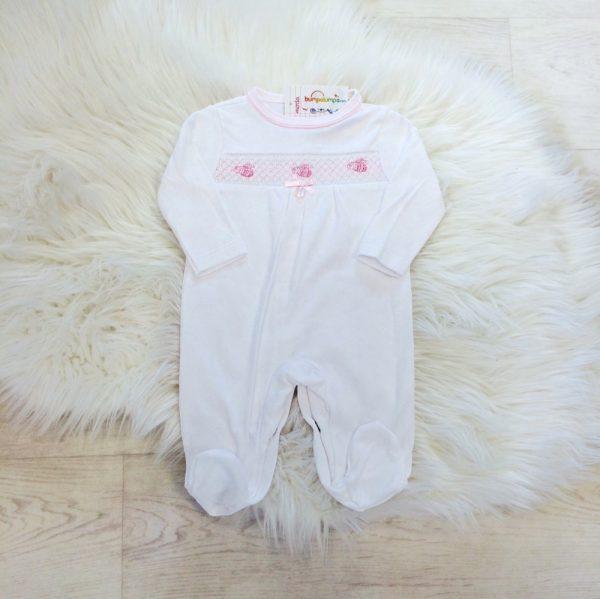 Baby Girls White Babygrow