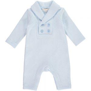 Mintini Baby Boys Blue Romper Suit