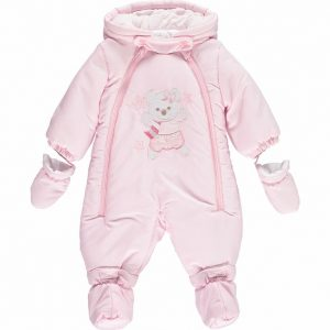 Mintini Baby Girls Pink Snowsuit