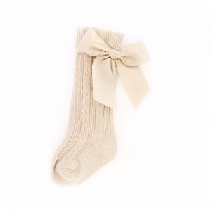Beige Baby Girls Socks