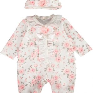 Mintini Baby Girls Floral Babygrow
