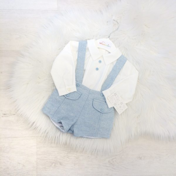 Baby Boy Blue Dungaree Outfit