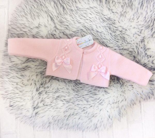 Baby Girls Pink Bolero Cardigan