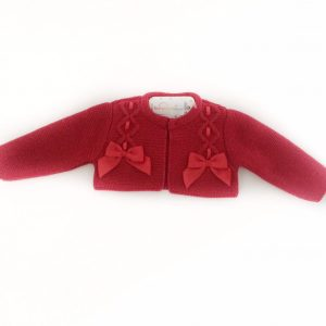 Baby Girls Red Bolero Cardigan