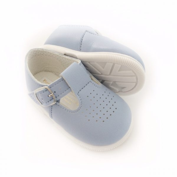 Babypod Blue T-bar Shoes