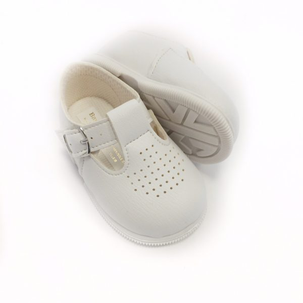 Babypods White T-Bar Shoes