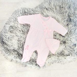 Baby Girls Pink Ballerina Babygrow